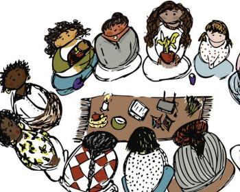 Viaje ilustrado de mujeres por las redes comunitarias