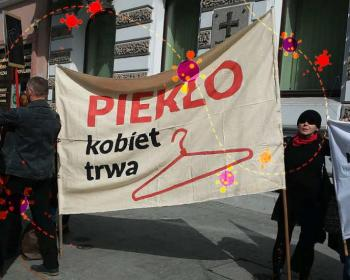 Polish protests against abortion ban during COVID-19
