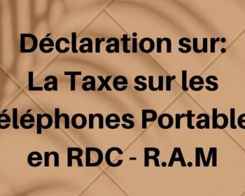 Rudi International se joint à d'autres voix pour dire non à la taxe sur les téléphones mobiles en RDC