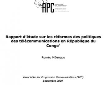 Rapport d'étude sur les réformes des politiques des télécommunications en République du Congo