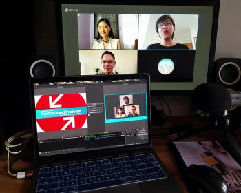 Video4Change: Recording a video podcast remotely using free and open-source software