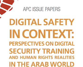 Digital safety in context: Perspectives on digital security training and human rights realities in the Arab world