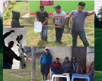 Se inauguró la red comunitaria Jxa'h Wejxia Casil - red de viento de Silva y Caldono