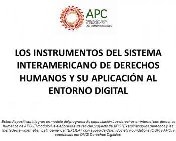 Los instrumentos del Sistema Interamericano de Derechos Humanos y su aplicación digital: módulo de capacitación