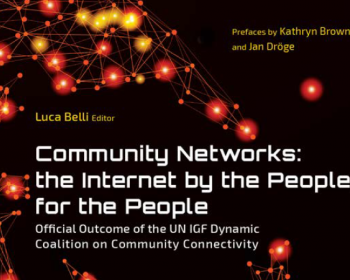 Community networks: The internet by the people, for the people