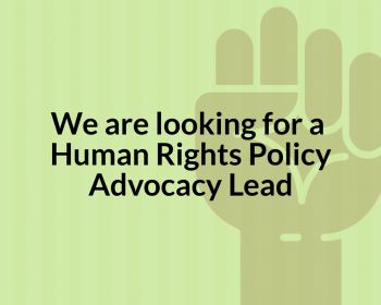Job call: Human Rights Policy Advocacy Lead