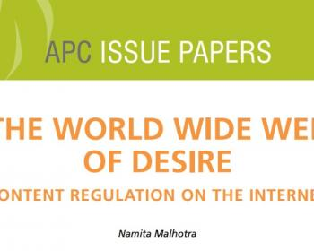 The World Wide Web of Desire: Content regulation on the internet