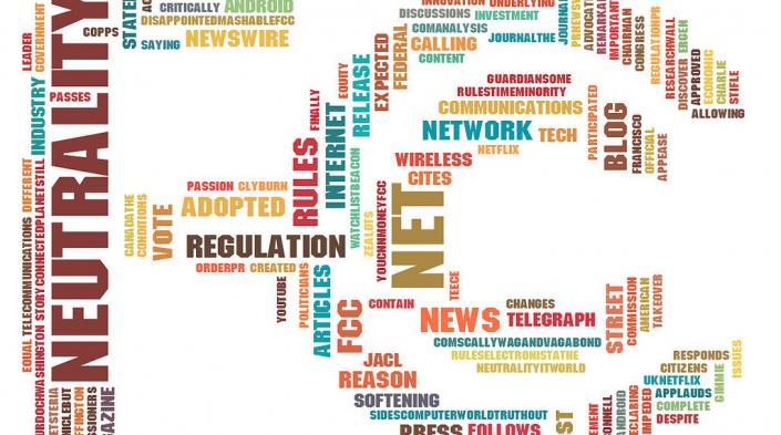 Net Neutrality News Tag Cloud, by Sean Weigold Ferguson on Flickr