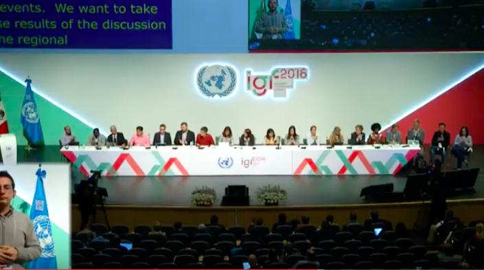 Image: IGF 2016 – plénière. Guadalajara, 7 Décembre 2016.