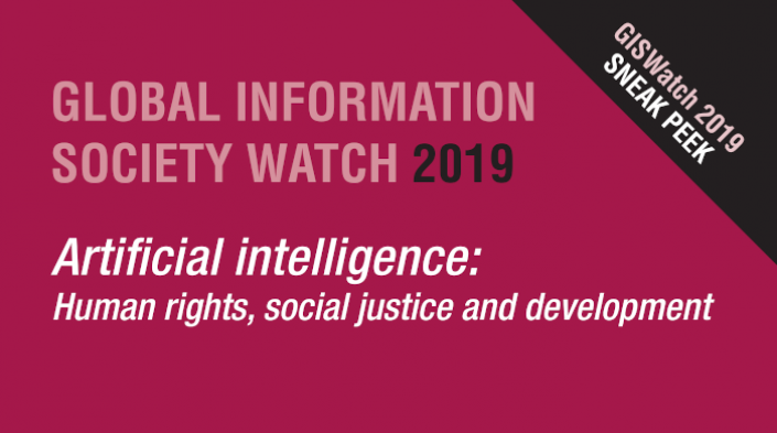 GISWatch 2019: Artificial intelligence: Human rights, social justice and development