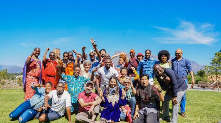 A selection of participants of the Video4Change Grassroots Gathering in South Africa (Oct. 2019). Image via InsightShare.
