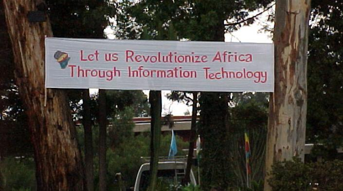 Welcome Banner, 1999 African Connection Rally, Nairobi, Kenya.