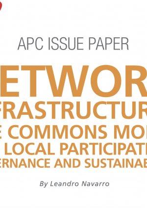 Network infrastructures: The commons model for local participation, governance and sustainability