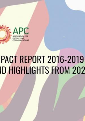 APC Impact Report 2016-2019 and highlights from 2020